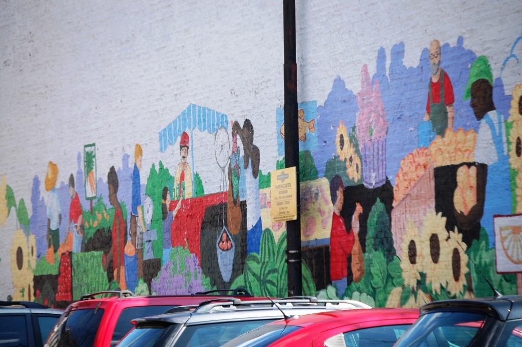 Mural representing Findlay Market