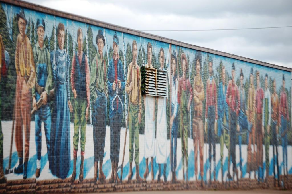 Lumberjack Mural
