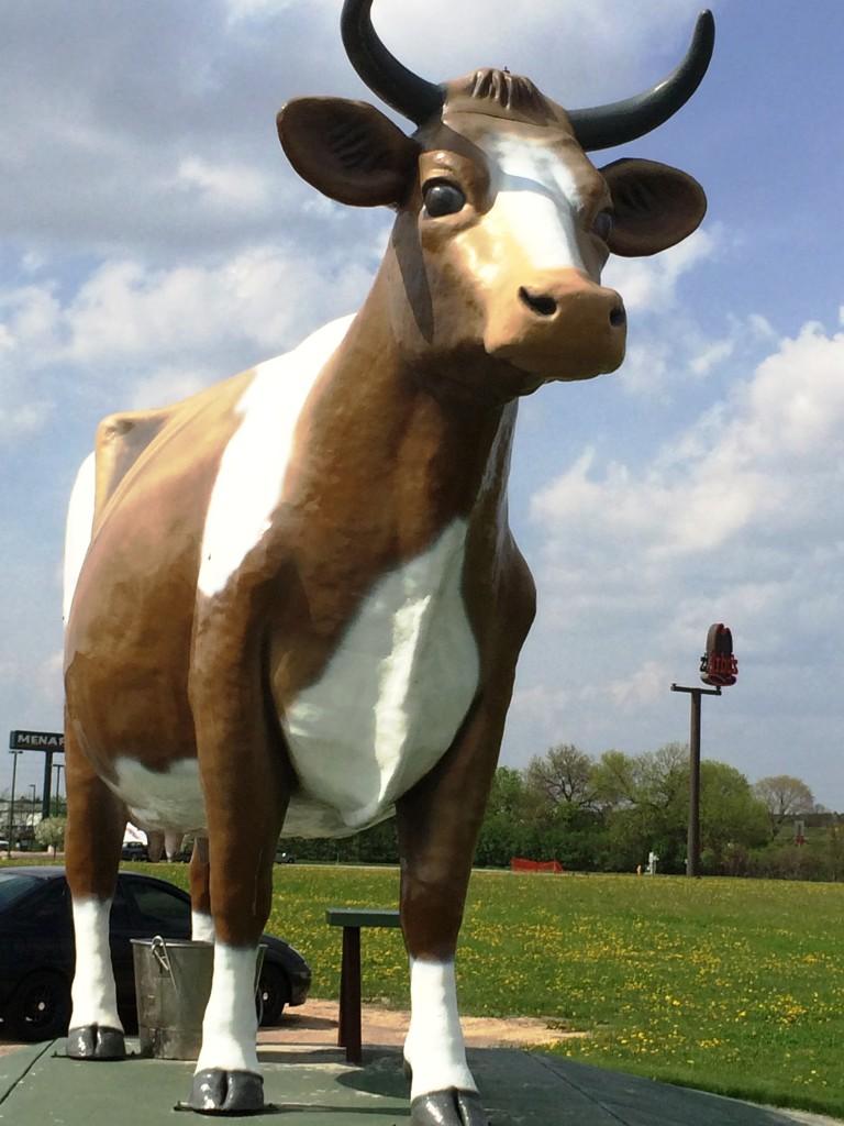 Bessie the Cow in Janesville, WI