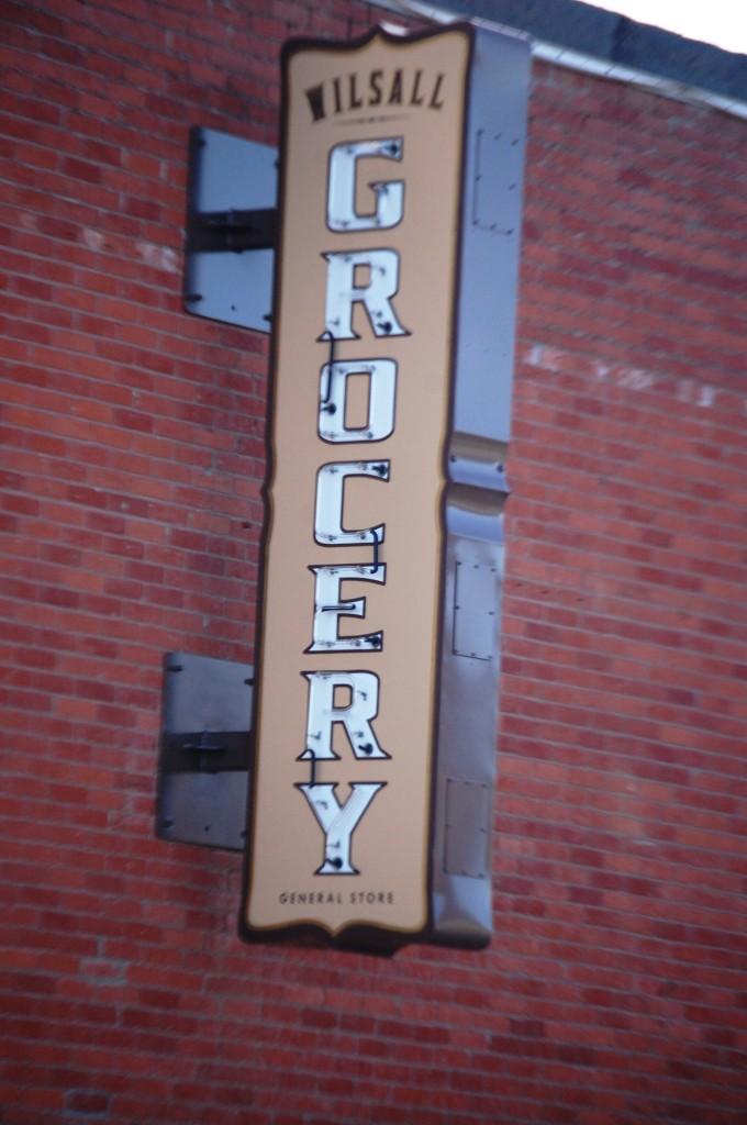Wilsall Grocery Neon sign