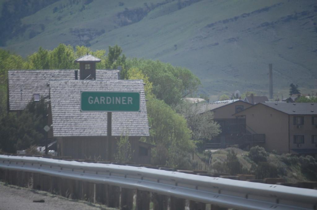 Entering Gardiner, Montana