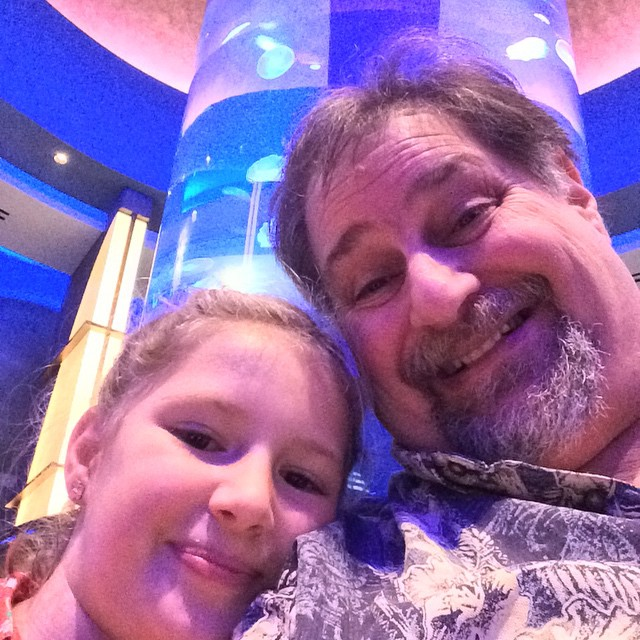 Grampz with the #birthdaygirl Autumn...she turned 9 today W00T!! Darling young lady