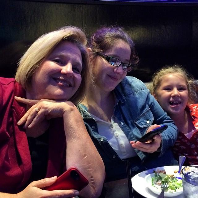 3 Generations!! Julianne, Chelsea, Autumn at #birthdaygirl dinner!