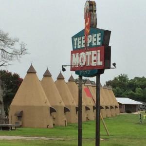 Tee Pee Motel in Wharton, TX