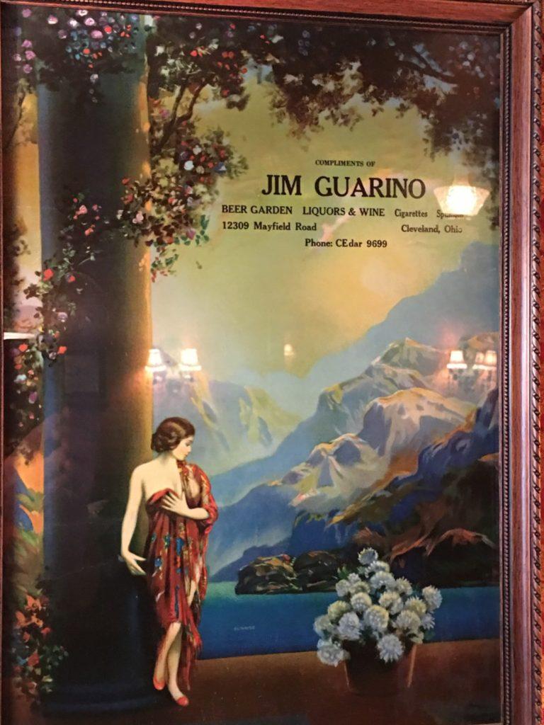 Poster in Guarino's honoring Jim Guarino