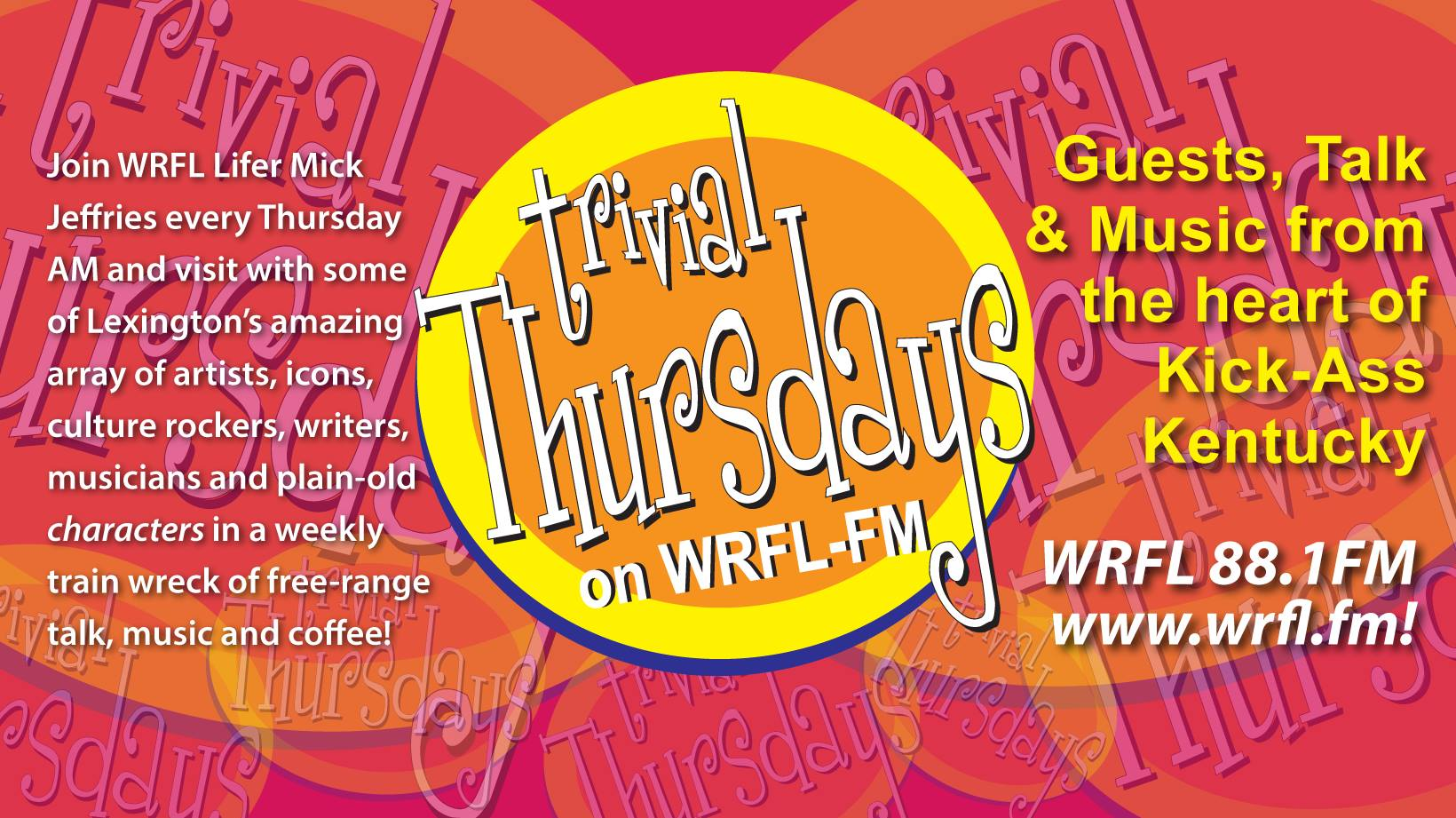 Sumoflam on LIVE in Studio Interview on WRFL in Lexington on Thursday, 11/29
