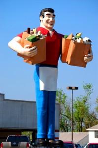 The Giant non-Superman Statue in Metropolis, IL