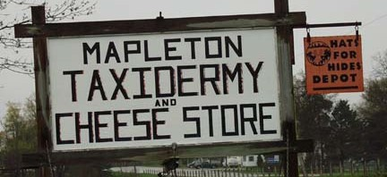 Now for Something Completely Different: Taxidermy and Cheese Store