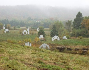 Screaming Heads. Canadian secondary school teacher Peter Camani created these spooky yet fascinating landscape artwork. Since the mid-1970s besides being a teacher, he has built these massive structures and amazing castle.