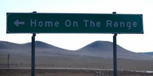 Home on the Range sign in North Dakota
