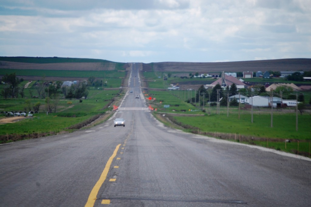 Heading west on US 18 out of Winner, South Dakota