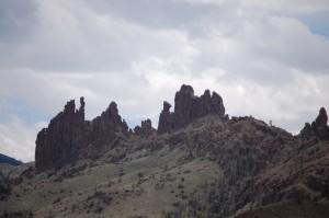 Cliffs near Wapiti, WY as seen from US 14/16/20