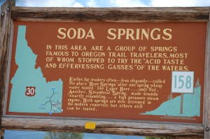 Soda Springs Historic Marker