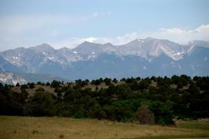 Sange de Cristo Range near Cotopaxi as seen from CO Cty Hwy 1A
