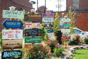 Lindley Sign Post Forest in Danville, IL