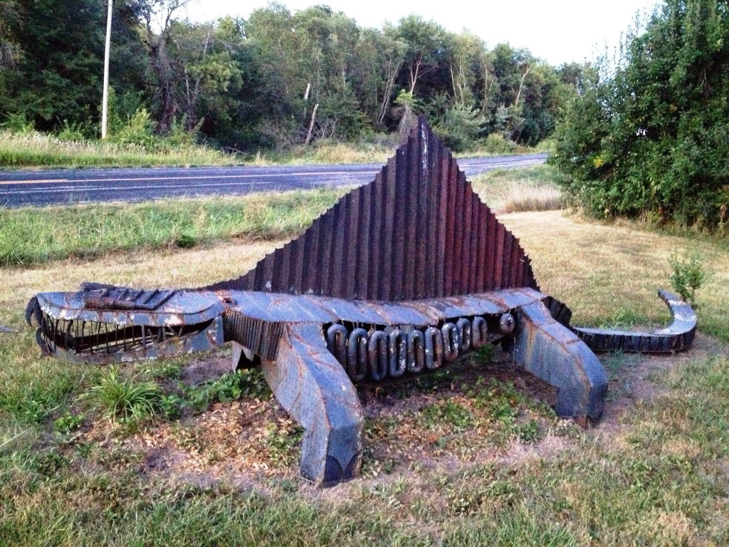 Larry Vennard's Iron Sculpture Park in Centralia, Missouri