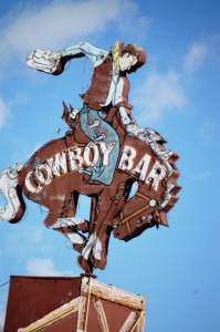 The famous Cowboy Bar neon sign