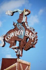 The famous Cowboy Bar neon sign