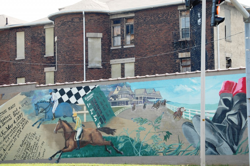 Char Downs mural on Hurst Office Building in downtown Lexington