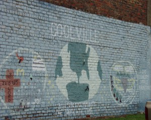 """Old Coolville Wall Mural """"Building Community One Block at a Time"""", Coolville, OH"""