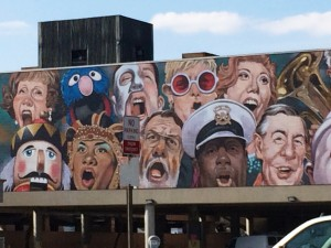 "Cincinnati's ""The Singing Mural"" (detail) by C.F. Payne"