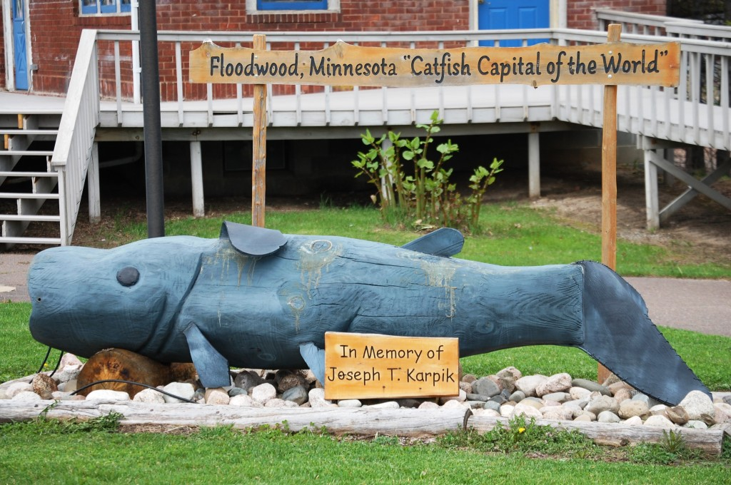 A Catfish monument in Floodwood, MN where they claim to be the Catfish Capital of the World