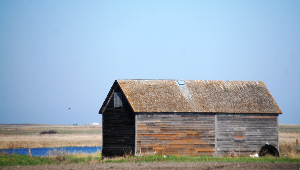 An old barn on ND Hwy 1 heading north