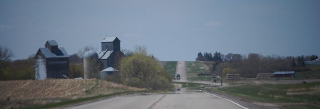 Grain elevator rural scene along ND Hwy 17 west of Cando, ND