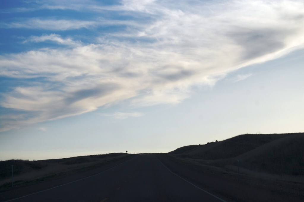 A lovely view of the Big Sky in Montana as seen from US Route 2 west of Bainville, MT