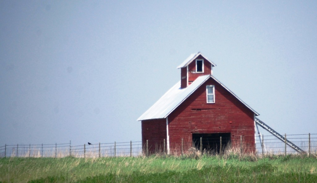 Typical Red Barn in Wisconsin