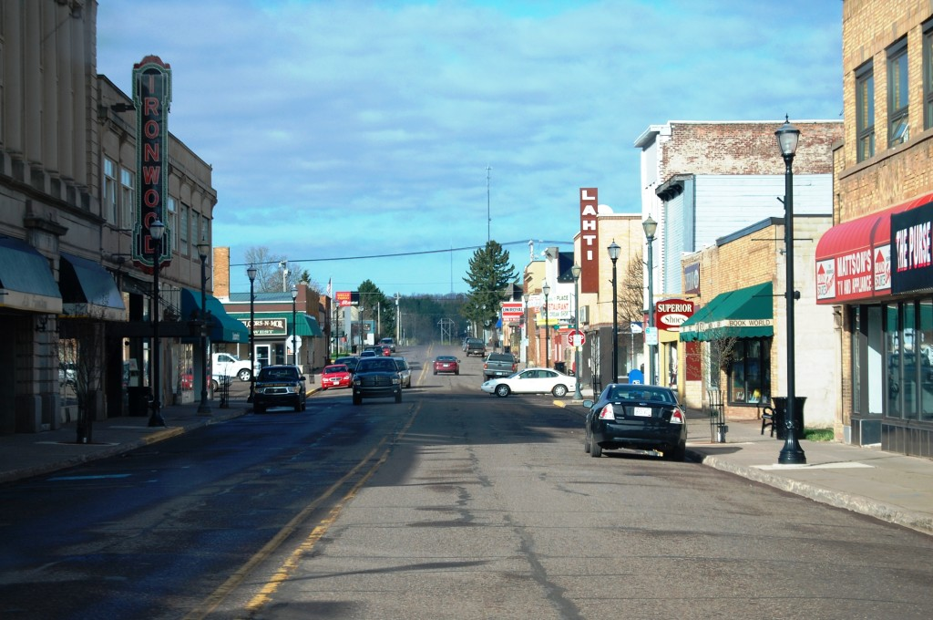 Downtown Ironwood, Michigan