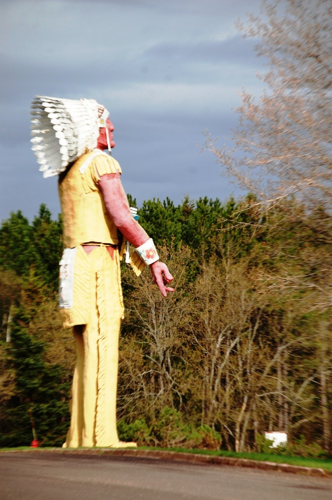 Another angle of Hiawatha statue, which is supposedly the tallest Native American statue in the US