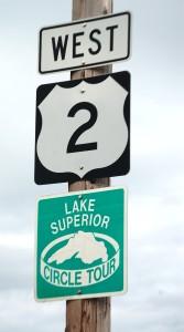 US Route 2 and Lake Superior Circle Tour beginning in Ironwood, MI
