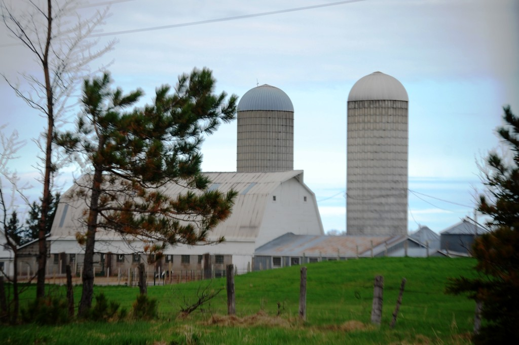 A typical farm scene along US Route 2 in eastern Wisconsin