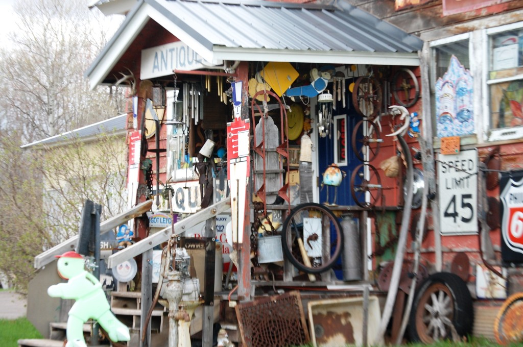 Front porch of Boudreau's Antiques...how many things can you spot?