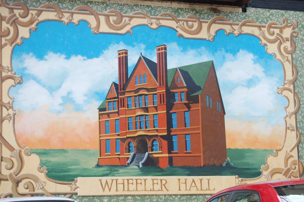 Wheeler Hall Mural on Ellis Avenue in Ashland, WI