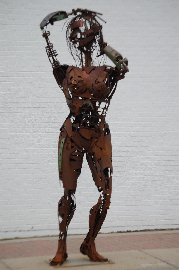 A metal sculpture from the 2012 Sculpture Walk