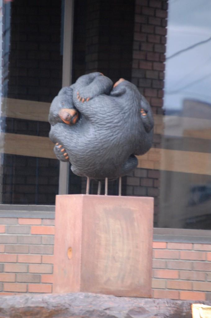 """Bear's Ball"" by Paul Albright - part of the 2014 Sculpture Walk in Bemidji"