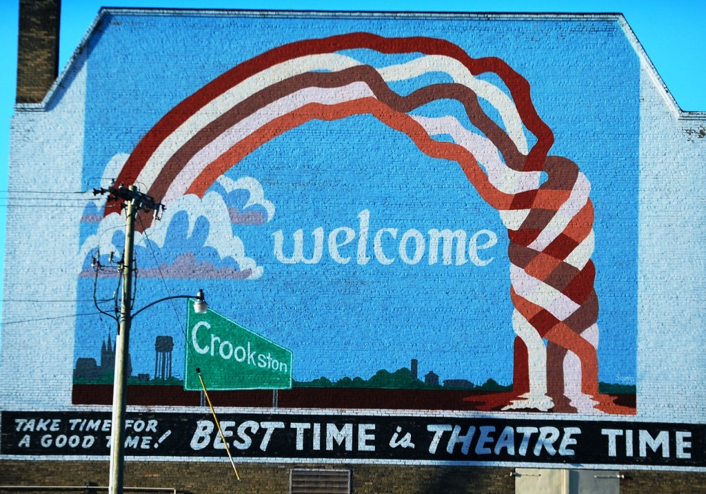 Welcome to Crookston mural in Crookston, MN