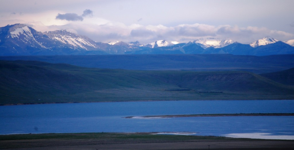 The Beartoth Range as seen from Boysen Reservoir in Wyoming