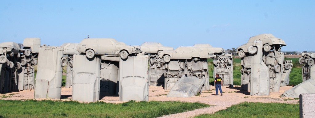 Carhenge in Alliance, Nebraska. One of the highlights of the trip