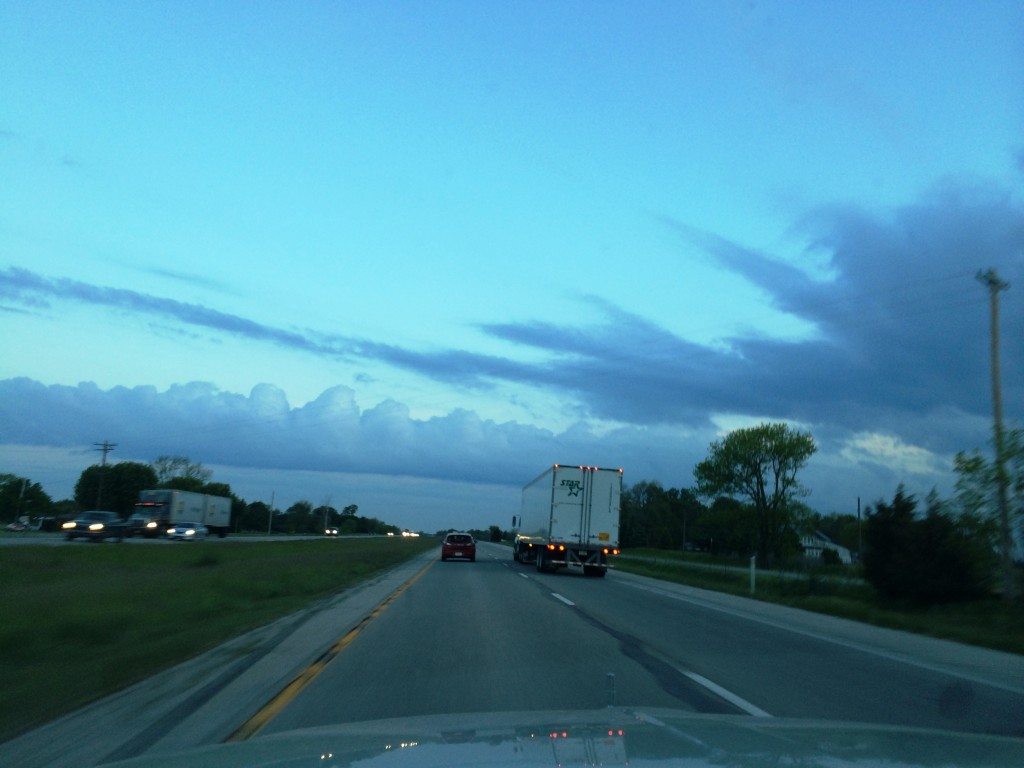 Unique Clouds at 6:30 AM heading east on I-74 in central Indiana