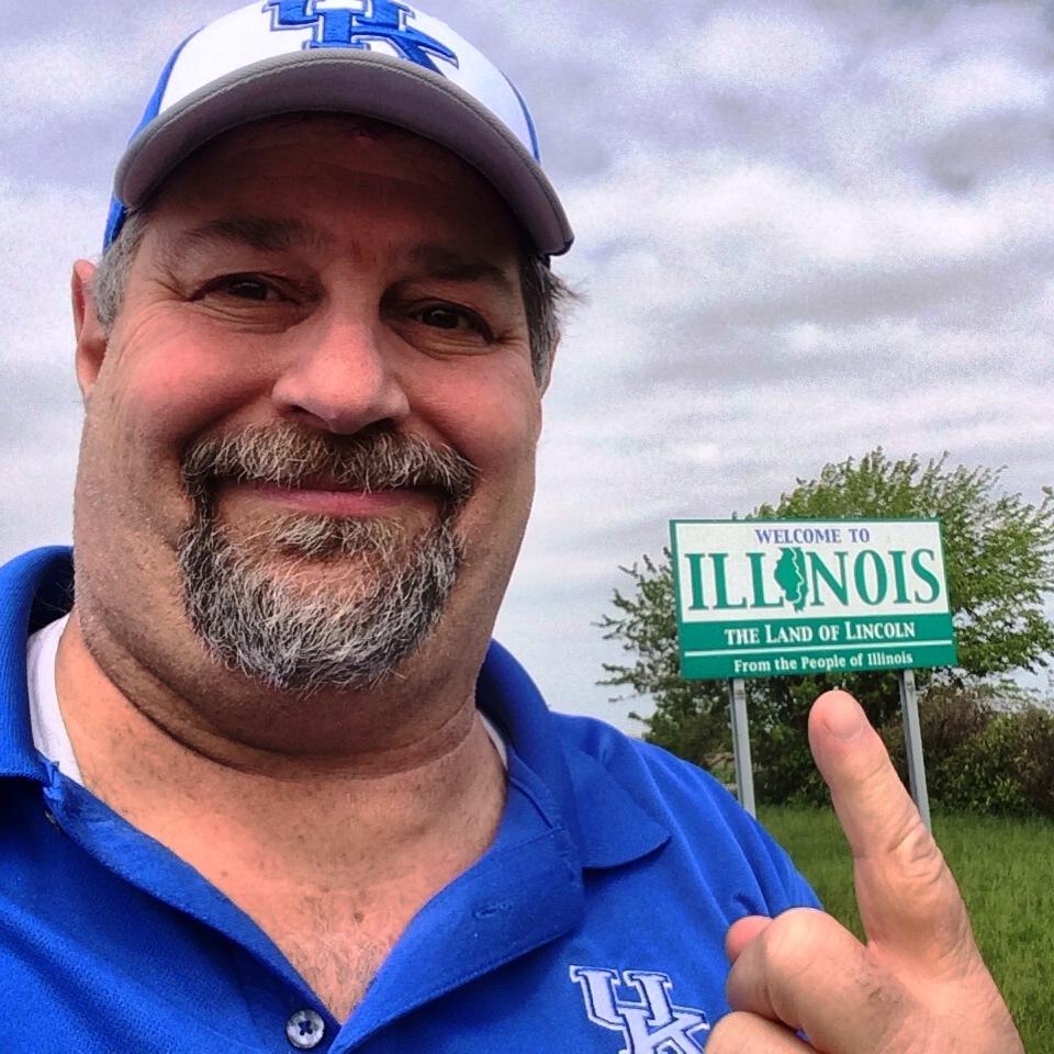 Welcome to Illinois on I-74 at Indiana/Illinois Border