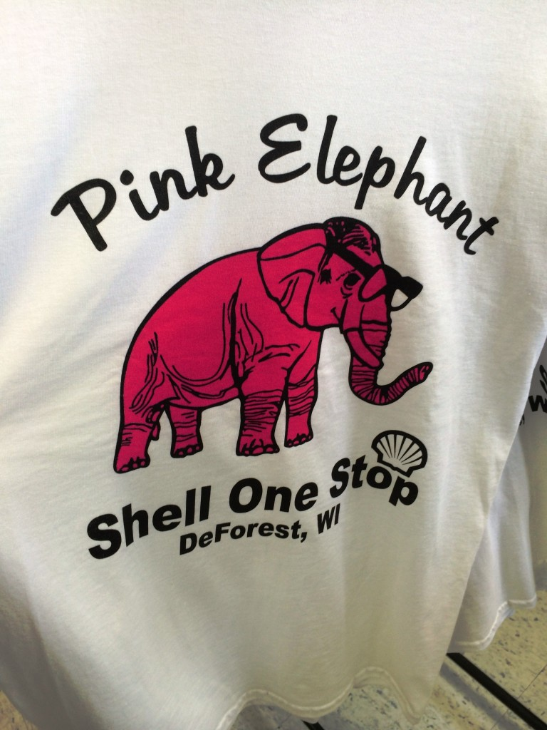 Need a Pink Elephant T-Shirt?  I know where you can get one!
