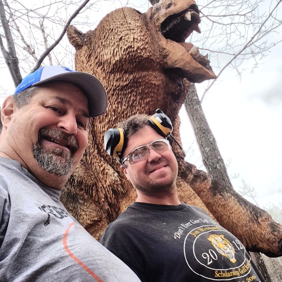 Sumoflam and Justin Howland at Grizz Works in Maple, WI.  Giant Grizzly is amazing!