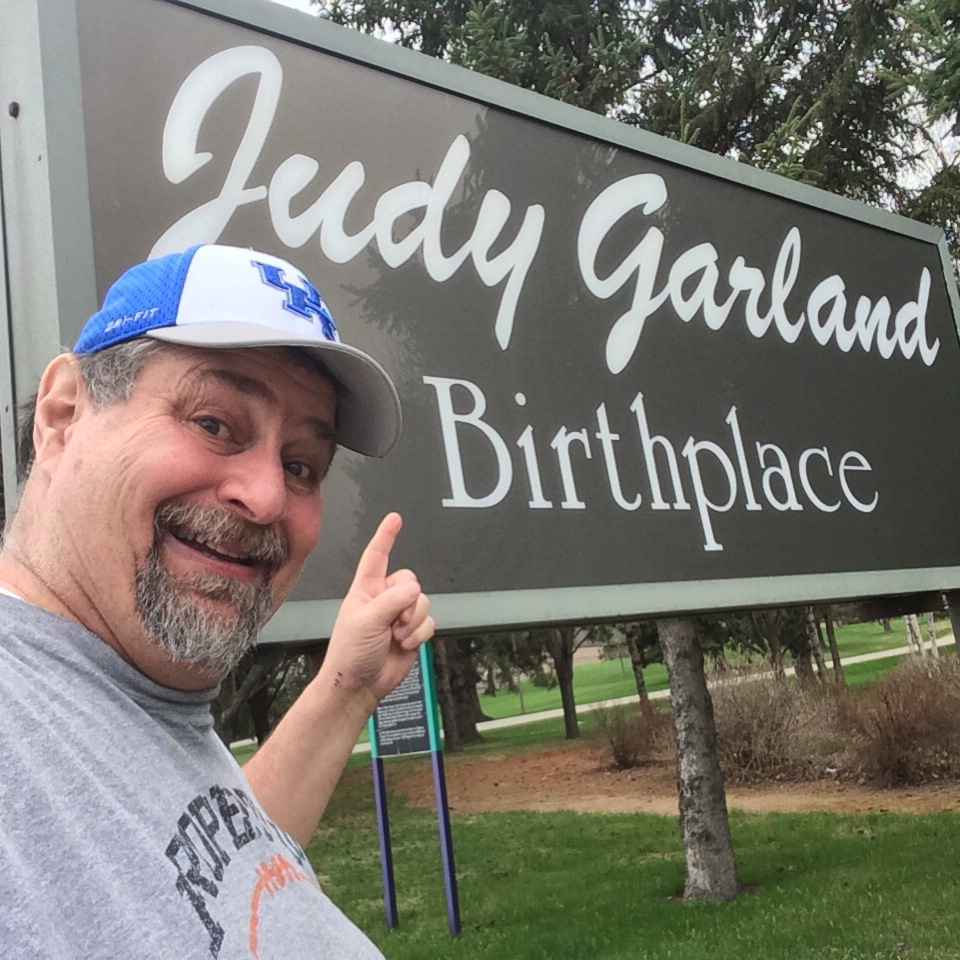 Sumoflam at Judy Garland birthplace in Grand Rapids, MN