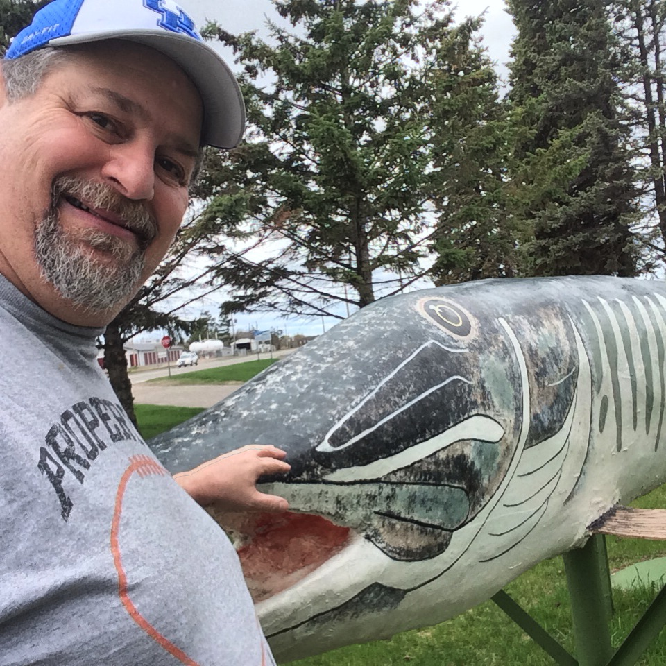 "Sumoflam and his fish friend ""Pike"" in Deer Park, MN"