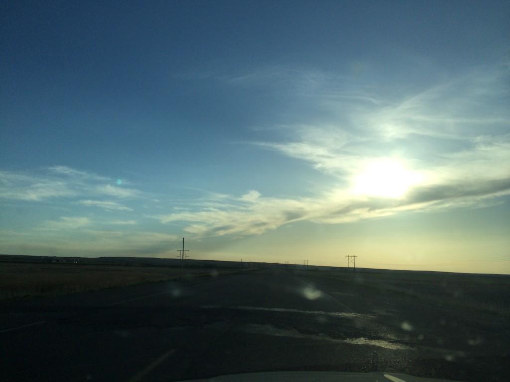 Sun and sky in eastern Montana