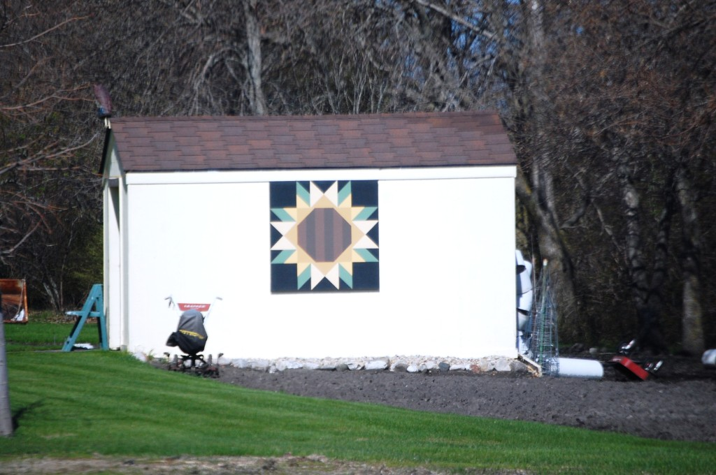 Quilt Block on a Barn in Michigan, ND