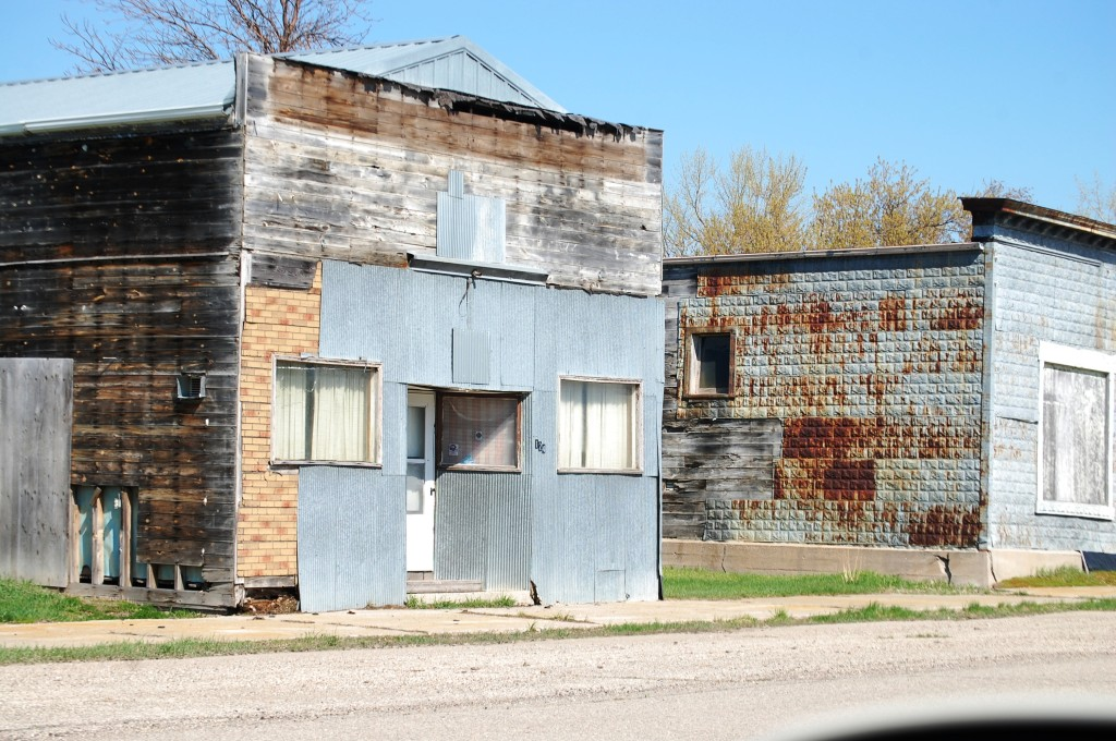 Old buildings in Nekoma, ND